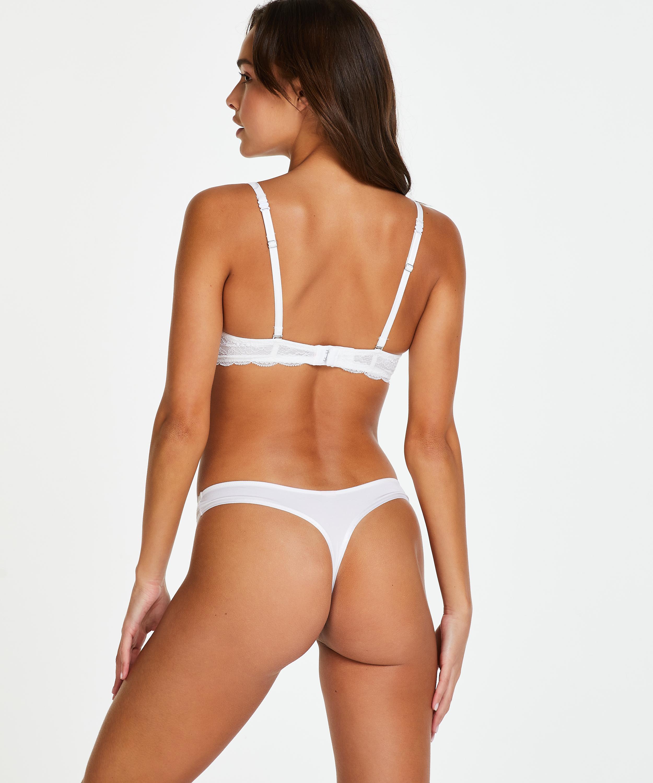 2-pack Angie Thongs, White, main