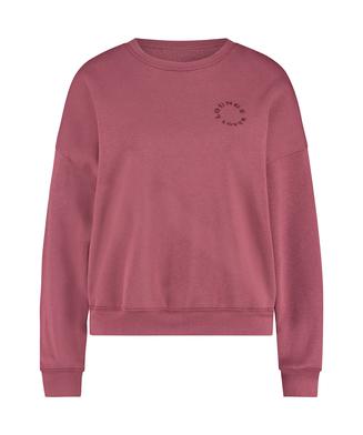 Brushed Long Sleeved Boyfriend Top, Pink