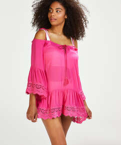 Lace Trim tunic, Pink