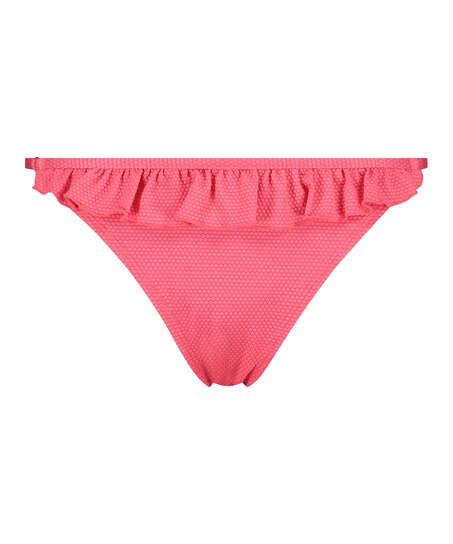 Ruffle Dreams tanga bikini bottoms, Pink