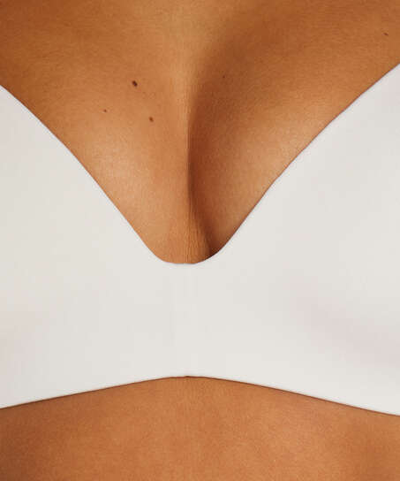 Mona padded non-underwired bra, White