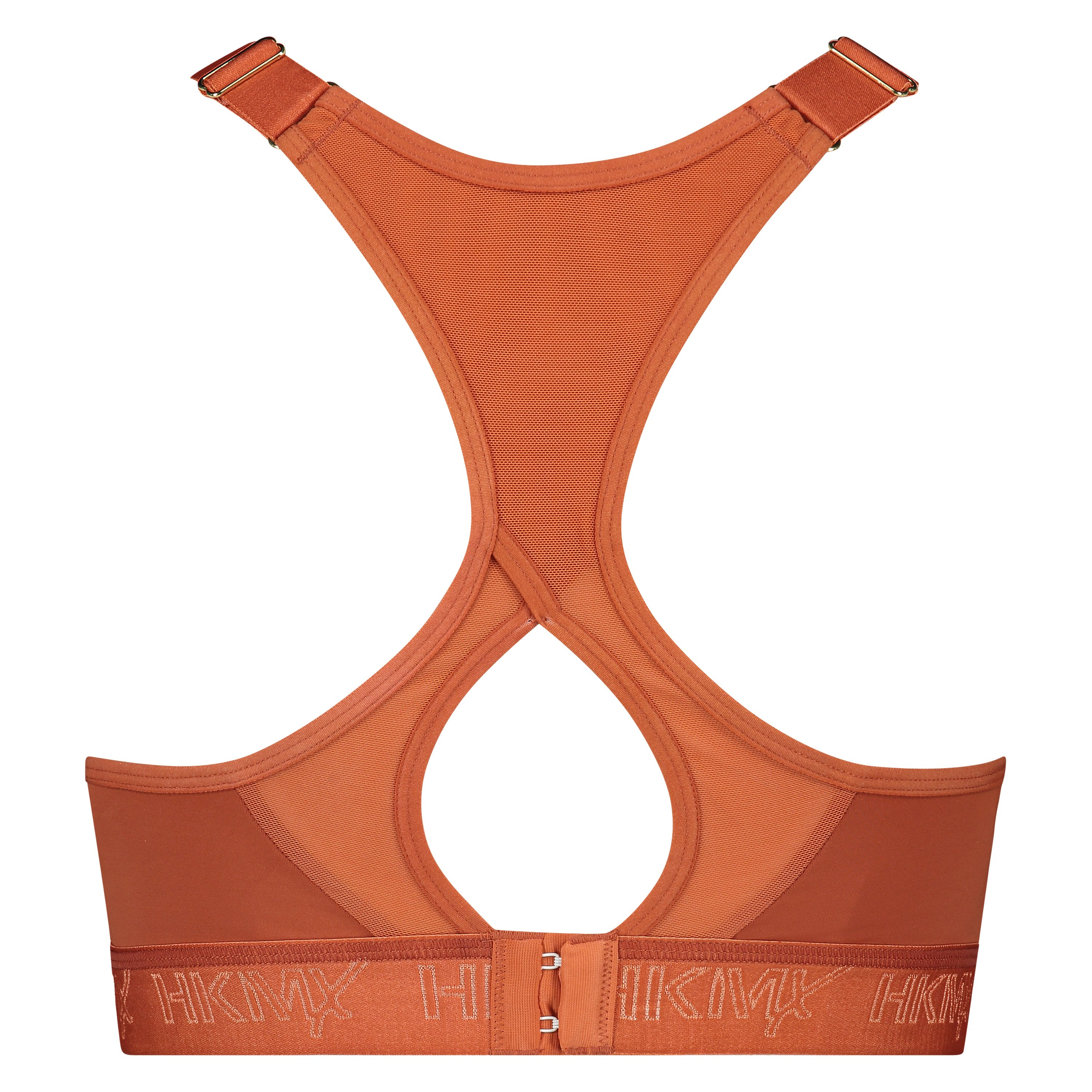 HKMX Sports bra The All Star Level 2, Brown, main