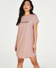Round Neck Nightshirt, Pink