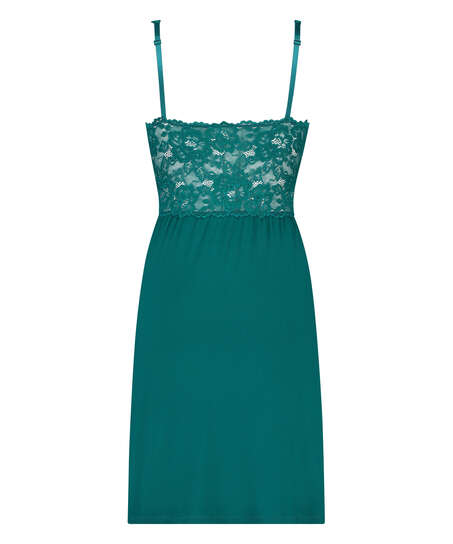 Modal Lace Slip Dress, Green