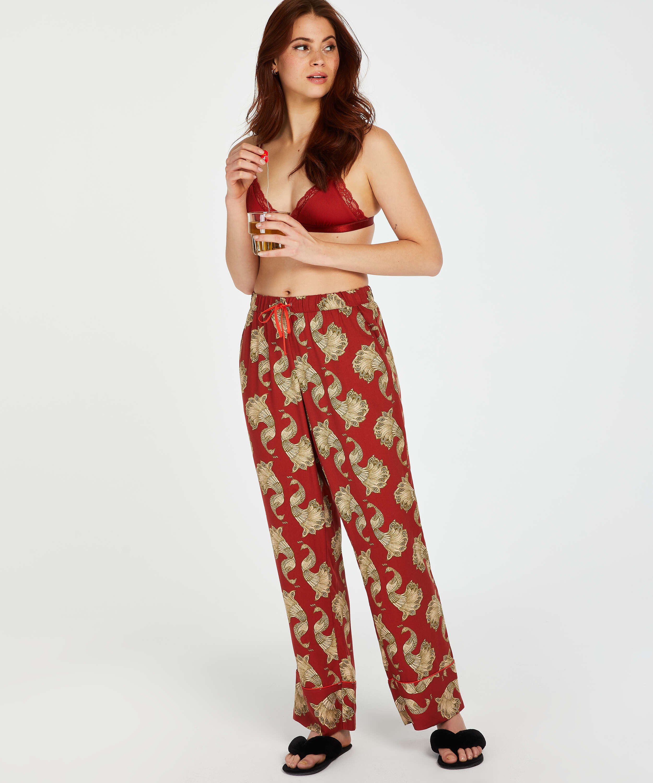 Woven pyjama bottoms, Pink, main