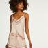 Satin Lace Pyjama Shorts, Pink