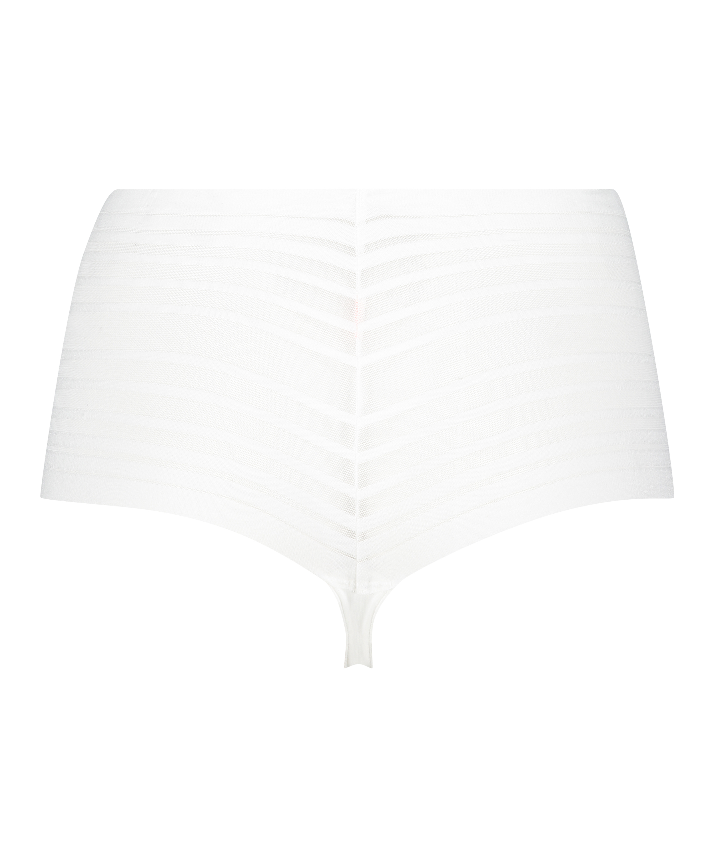 Invisible high thong, White, main
