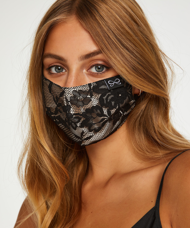 Satin mask, Black, main