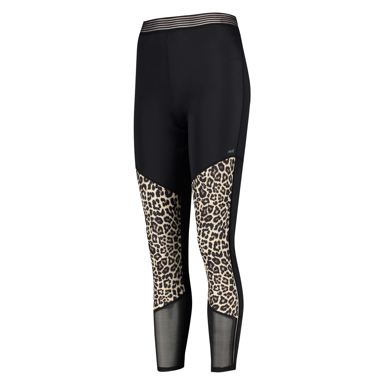 HKMX Leopard High waisted sports leggings , Grey, main