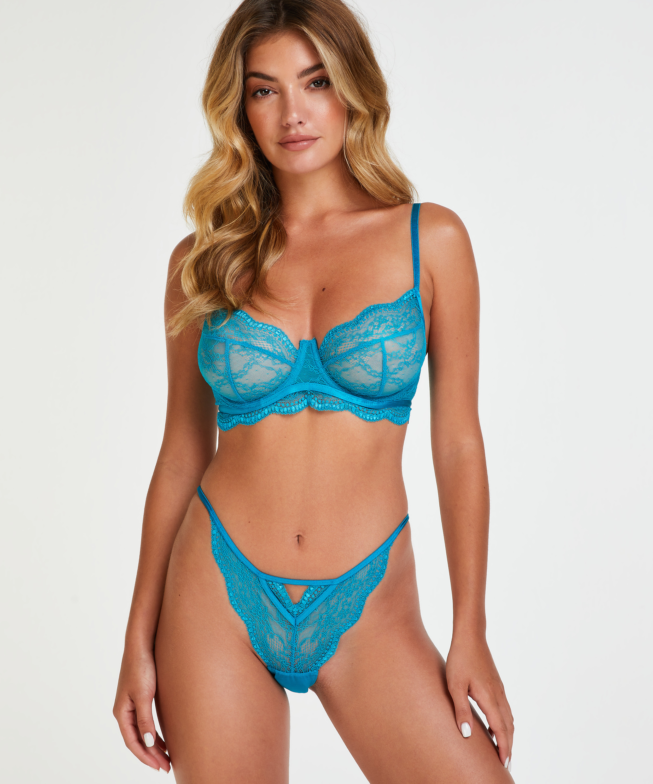 Isabelle non-padded underwired bra, Green, main