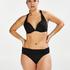 Sunset Dreams padded underwired bikini top Cup E +, Black