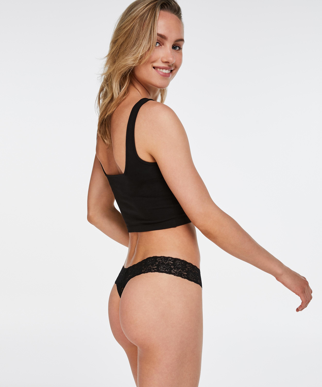 Thong Ultra Low, Black, main