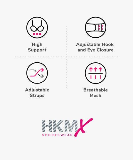 HKMX Sports bra The Elite Level 3, Black