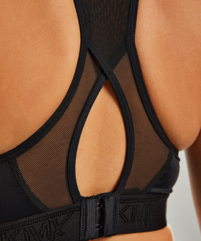 HKMX Sports bra The All Star Level 2, Black, main