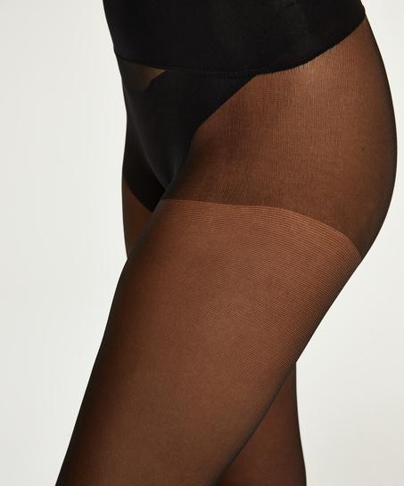 20 Denier seamless tights, Black