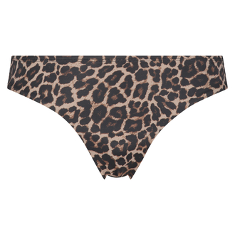 Leopard Rio bikini bottom, Beige