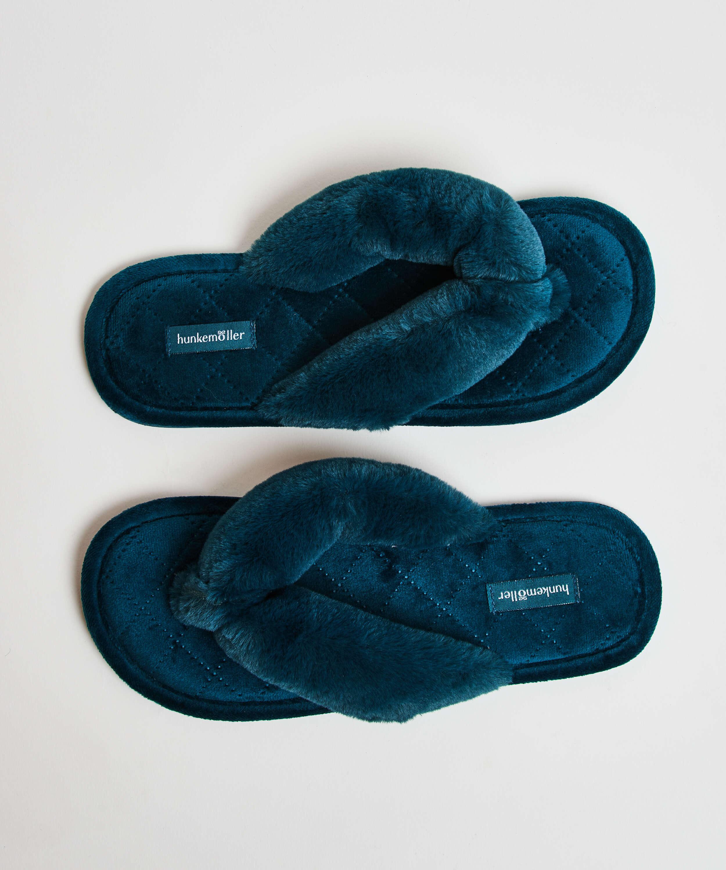 Fur Velours slippers, Green, main
