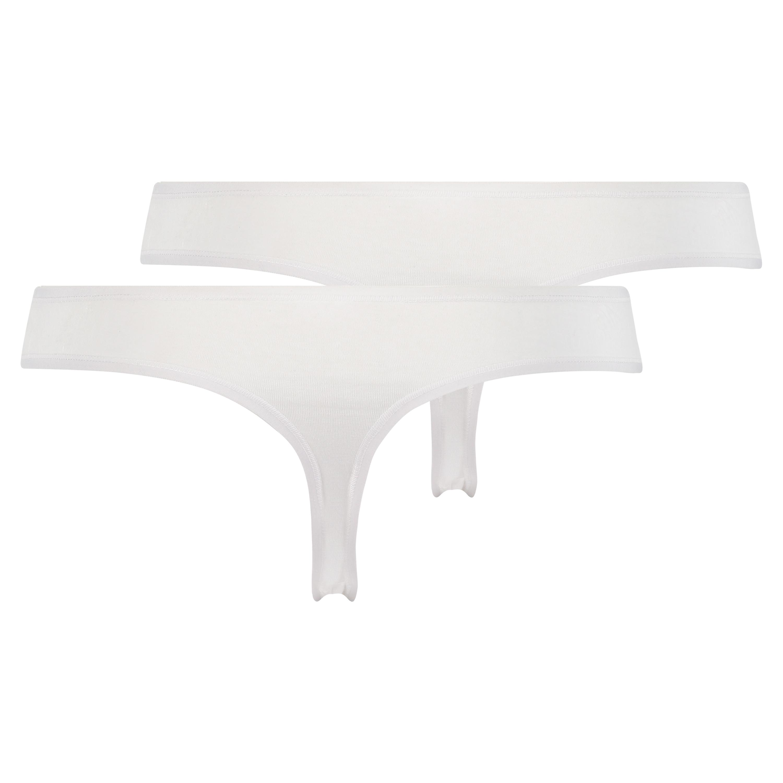 2 Cotton Thongs Kim, White, main