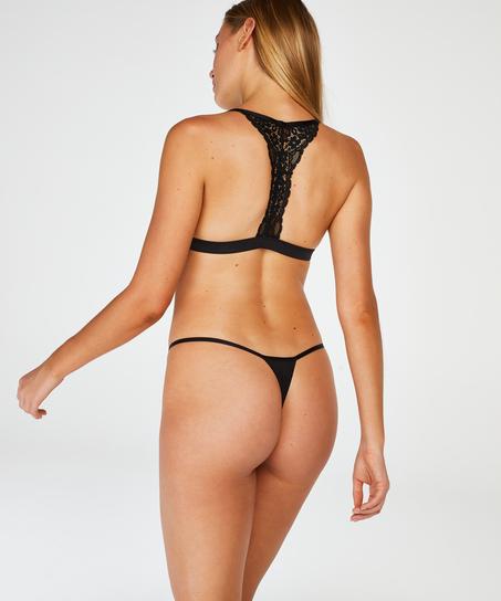 Marina Padded Triangle Bralette, Black