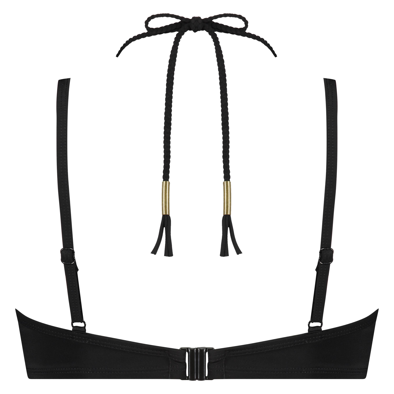 Sunset Dream Padded Underwired Bikini Top, Black, main