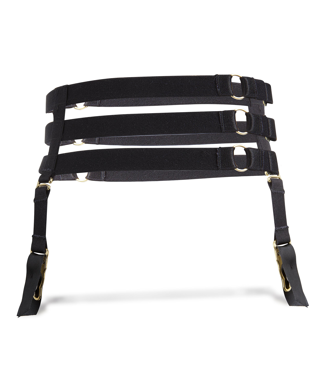 Private Suspender cuffs, Black, main