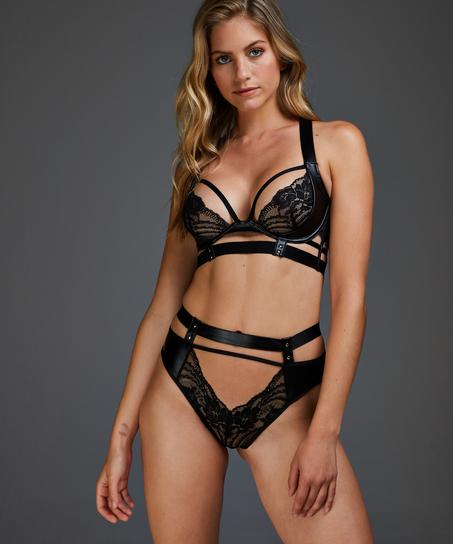 Venus open crotch brazilian, Black