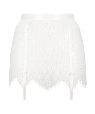 Lace Skirt, White