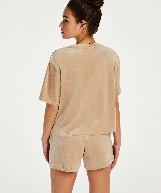 Velvet Pocket shorts, Beige, main