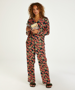 Woven pyjama bottoms, Blue