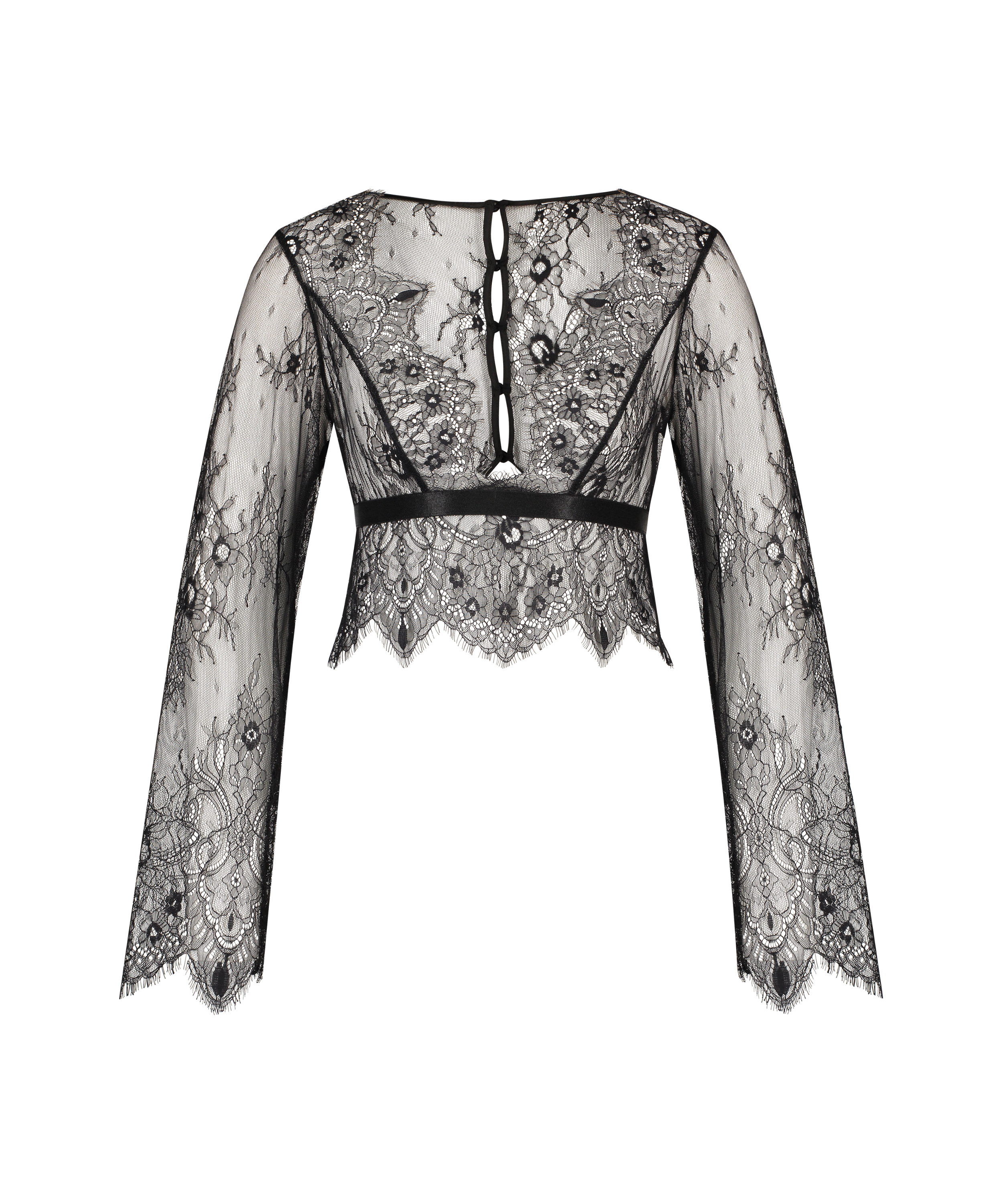 All-over Lace Top, Black, main