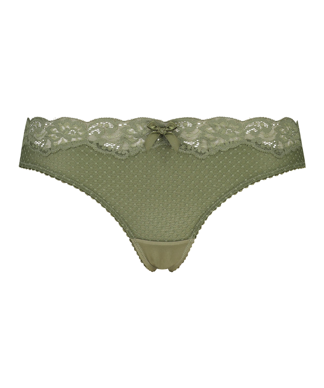 Marion thong, Green, main