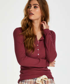 Long-Sleeved Pyjama Top , Red