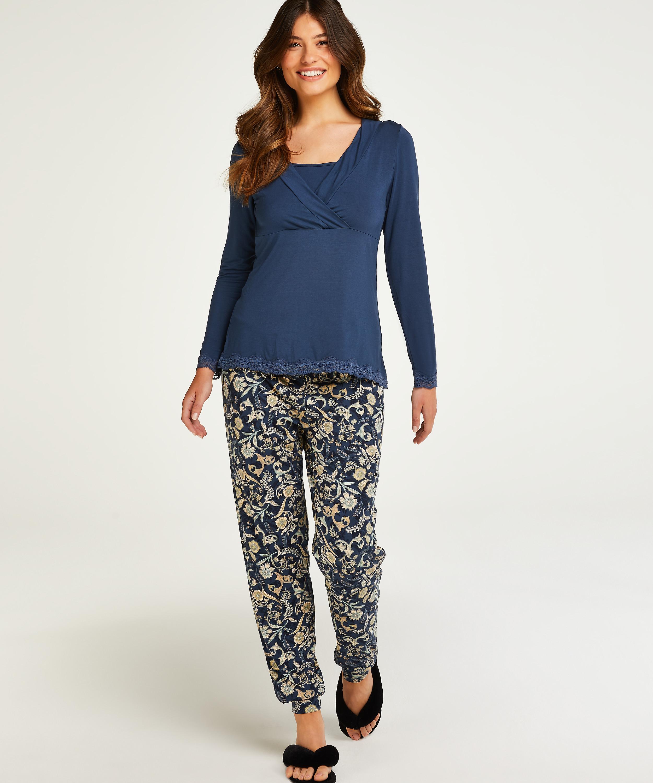 Nursing pyjama set , Blue, main