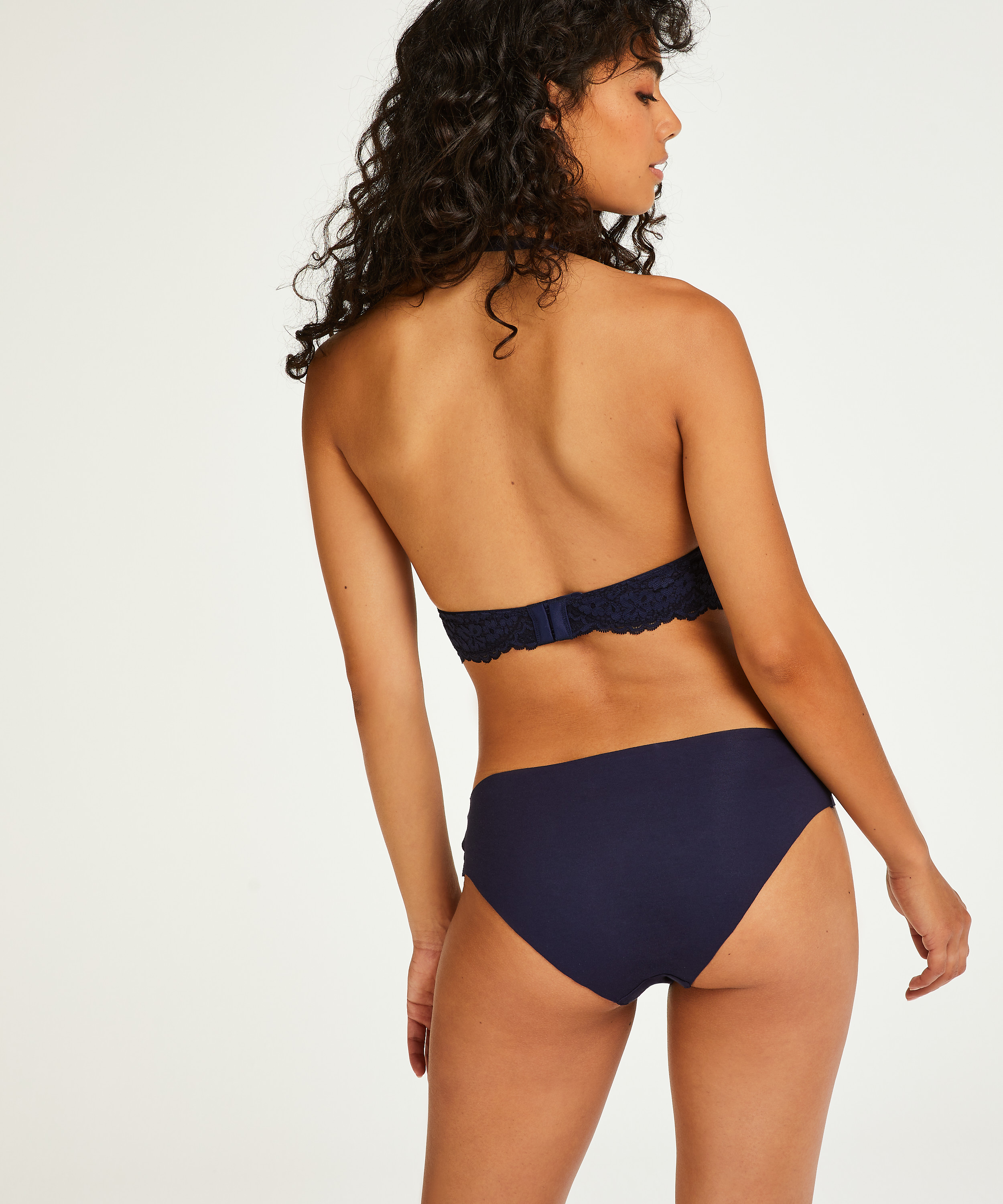 Invisible cotton knickers, Blue, main