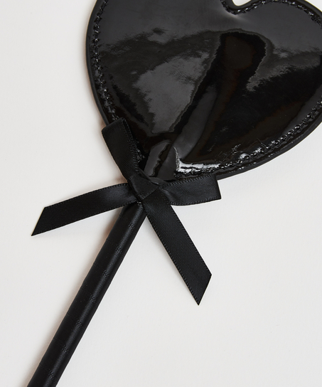 Leather-look private whip, Black