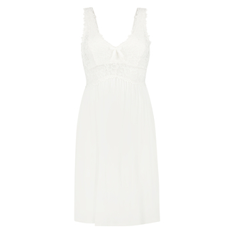 Nora Lace Slip Dress, White