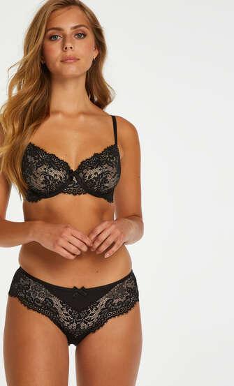 Cardi non-padded underwired bra, Black