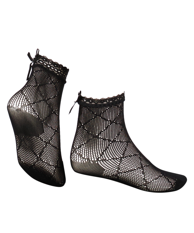 1 pair of Mesh socks Rebecca Mir, Black, main
