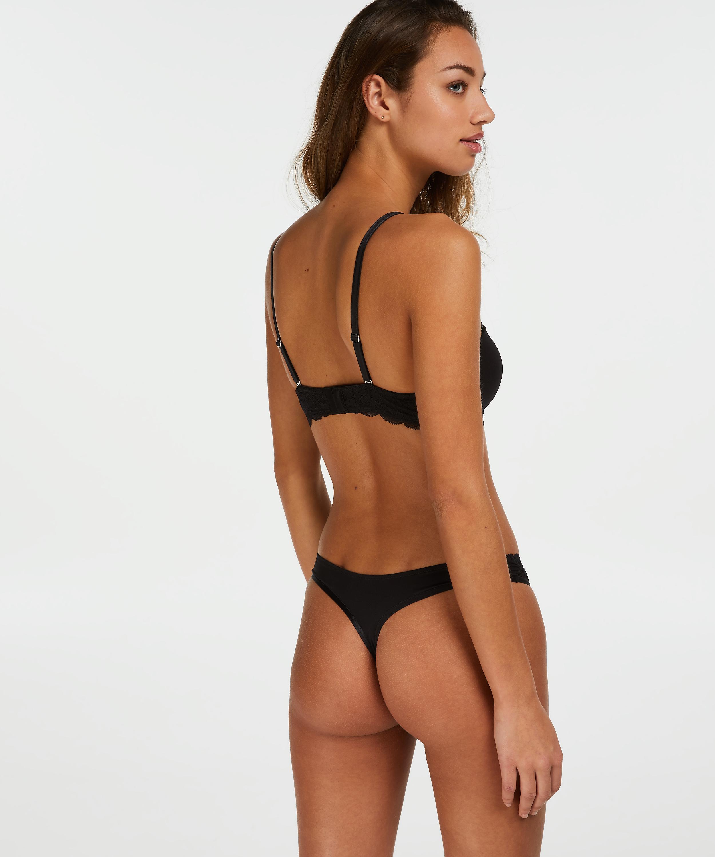 2-pack Angie Thongs, Black, main