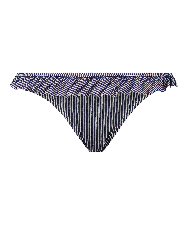 Ruffle Stripe Rio bikini bottoms, Blue, main