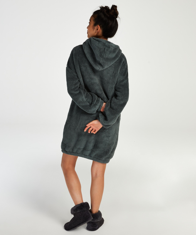 Snuggle Fleece Dress, Green, main