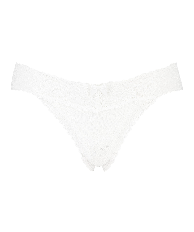 Madison Extra Low Thong, White, main
