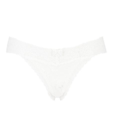 Madison Extra Low Thong, White