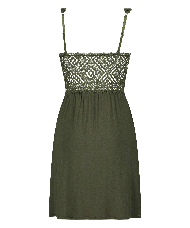Nora Lace Reinier slip dress I AM Danielle, Green, main