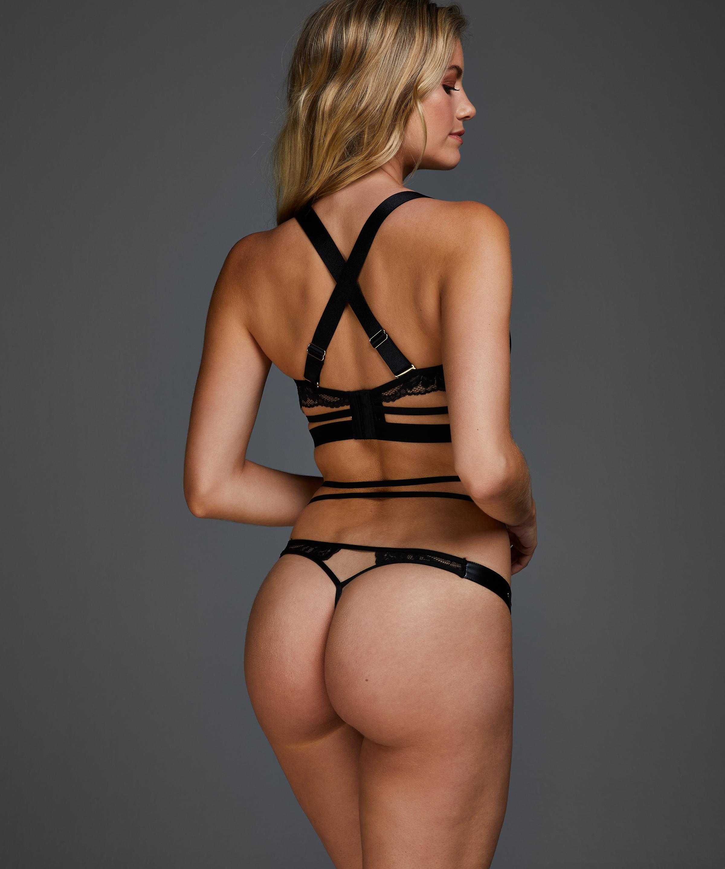 Venus non-padded underwired bra, Black, main