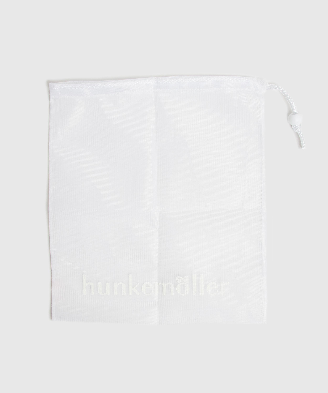 Hosiery bag drawstring, White, main
