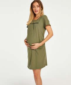 Baby In Progress Short-Sleeved Nightshirt, Green