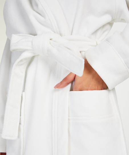 Long bathrobe, White