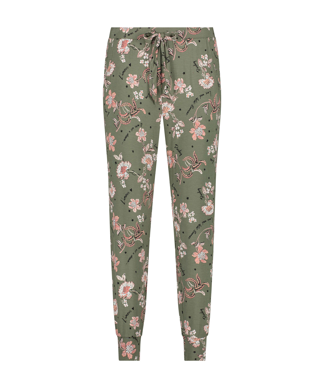 Jersey pyjama bottoms, Green, main