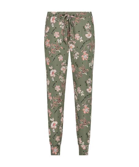 Jersey pyjama bottoms, Green